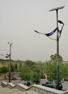 روشنایی خورشیدی و بادی