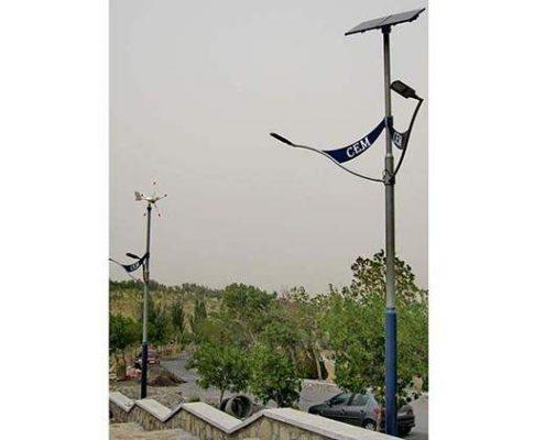 چراغ های بادی و خورشیدی