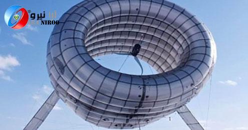 نخستین نیروگاه بادی در هوا