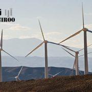 نصب توربین های بادی ۸ تونی بر روی کوه