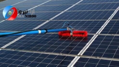 شستشوی پنل ها با دستگاه نماشوی - راهکار های شستشوی برای پنل خورشیدی